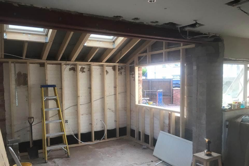 Rear view of double story extension completed in Woolton, Liverpool by Wirral Builder OPB.